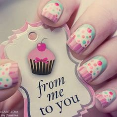 Cup Cake Nails