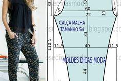 MOLDE DE CALÇA DE LINHO -27