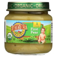 Shop the best Earth's Best Organic Baby Food Stage 1 - First Peas oz Jar products at Swanson Health Products. Trusted since we offer trusted quality and great value on Earth's Best Organic Baby Food Stage 1 - First Peas oz Jar products. Best Organic Baby Food, Benefits Of Organic Food, Pea Baby Food, Pea Ideas, Earth's Best, Baby Food Storage, Good Manufacturing Practice, Healthy Food Options, Fun To Be One