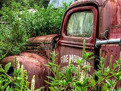 The old abandoned fire engine.....! by Roy Massicks