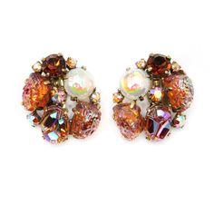 Schiaparelli amber earrings ca. 1950 from Carole Tanenbaum.