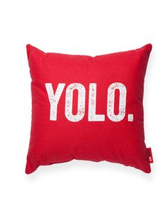 YOLO Red Throw Pillow