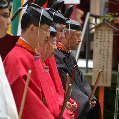 Priests at Hakone Shrine