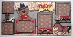 Yee Haw Layout - My Paper Crafting Scrapbook Paper Crafts, Scrapbook Supplies, Scrapbook Cards, Scrapbooking Ideas, Paper Crafting, Scrapbook Examples, Scrapbook Sketches, Scrapbook Page Layouts, Travel Scrapbook