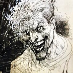Jim Lee Joker Sketch