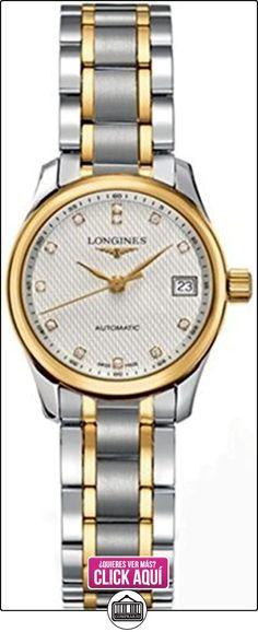 Diseño longitudinal en acero y 18 K de oro reloj de las mujeres marcadores diamante automático  ✿ Relojes para mujer - (Lujo) ✿ ▬► Ver oferta: http://comprar.io/goto/B002FVWLI6