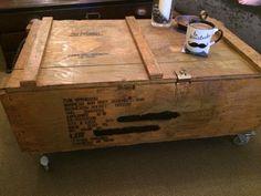 Us / un army rocket box coffee table vintage ammo box on castors man cave pub restaurant bar on Gumtree. Us / un army rocket box coffee table vintage ammo box on castors man cave , retro , look Stunning go