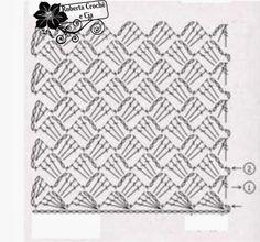 Bolsinha em Crochê com Gráfico diagrama do ponto usado 1c
