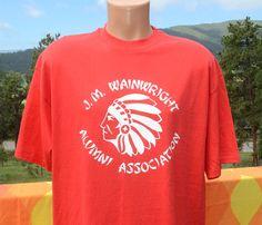 vintage 80s t-shirt J.M. WAINWRIGHT school taiwan alumni XL