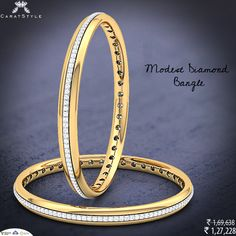 Diamond are other way to make oneself look attractive and charming Diamond Bangle, Diamond Jewellery, Gold Bangles, Bangle Bracelets, Or Rose, Rose Gold, Gold Line, Beautiful Things, Jewerly