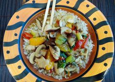 The Briny Lemon: Chicken and Mushroom Stir-Fry with Mandarin Orange Sauce