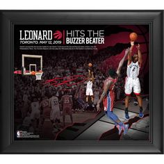 Toronto Raptors Kawhi Leonard Fanatics Authentic Framed 15 inches x 17 inches Game 7 Winning Shot vs. Nba Store, Game 7, Basketball Association, Nba Playoffs, Toronto Raptors, Golden State Warriors, Finals, Shots, Outdoor