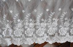 Super Wide Lace Fabric Cream Cotton