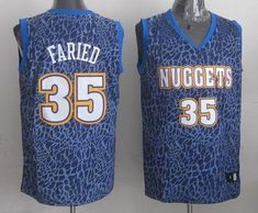 Nuggets  35 Kenneth Faried Dark Blue Crazy Light Stitched NBA Jersey 5b075d3ee