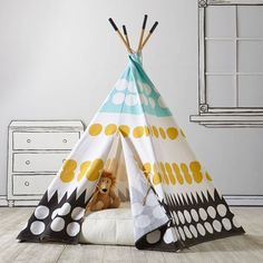 The Land of Nod Teepee to Call Your Own (Multi-Dot) | Domino