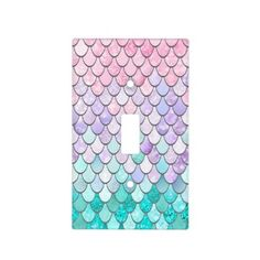 Mermaid Decor Light Switch Cover Pastel - girl gifts special unique diy gift idea - May 11 2019 at Design Seeds, Bedroom Themes, Bedroom Decor, Bedroom Ideas, Girls Bedroom, Decor Room, Home Decor, Mermaid Bathroom Decor, Mermaid Nursery Theme