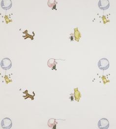 Winnie the Pooh Balloon Embroidery Fabric by Jane Churchill | Jane Clayton