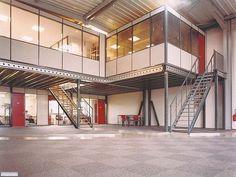 Warehouse Plan, Warehouse Design, Warehouse Office Space, Metal Building Homes, Building Design, Building A House, Garage Loft, Garage House, Shop Buildings