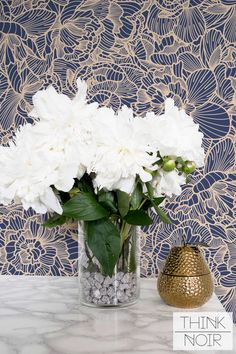 Flower Adhesive Wallpaper / Floral Removable Wallpaper / Blue Flower Wall Mural / Flower Wallpaper by ThinkNoirWallpaper on Etsy https://www.etsy.com/ca/listing/401068385/flower-adhesive-wallpaper-floral