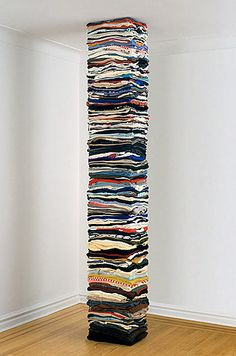 Either they found a way to stack their clothes, or they needed support for their house, c.a.p.
