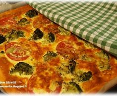 Mehevä parsakaali-tomaattipiirakka Pepperoni, Vegetable Pizza, Quiche, Vegetables, Breakfast, Food, Morning Coffee, Essen, Quiches