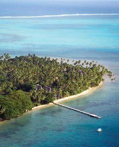 An aerial view of Jean-Michel Cousteau Resort in beautiful Fiji.