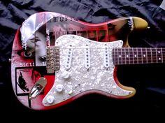 Fender Stratocaster with Custom Airbrush work by www.beyondcustomguitars.com