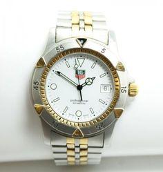Superb-Swiss-TAG-Heuer-Professional-200m-955706D-Mens-Wristwatch-Watch-Luminova