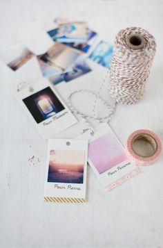 DIY: photo gift tags