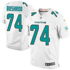 Men's Nike Miami Dolphins #74 Jermon Bushrod Elite White NFL Jersey