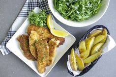 Chicken Milanese with Roasted Potatoes made easy. Discover Goodfood's Chicken Milanese with Roasted Potatoes meal kit delivery featuring farm-fresh ingredients. Roasted Potato Wedges, Roasted Potatoes, Chicken Milanese, Arugula Salad, Bread Crumbs, Potato Recipes, Chicken Wings, Meals, Fresh