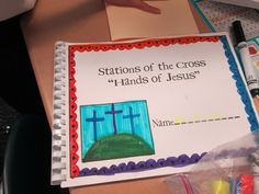 Stations of the Cross - Hands of Jesus books. We begin today! A wonderful way for us to discuss the journey of Christ.