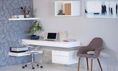 Ode - floating cantilever shelves