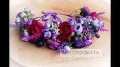 Как сделать венок из цветов на голову своими руками. Мастер-класс. Clay Tutorials, Flower Crafts, Flower Making, Flower Arrangements, Valentines Day, Diy And Crafts, Polymer Clay, Floral Wreath, Wreaths