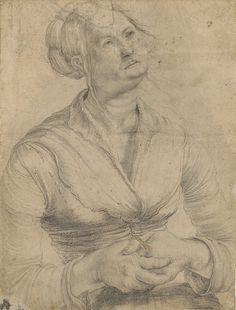 Matthias Grünewald (ca. 1470/80–1528) Study of a Woman with Her Head Raised in Prayer Inv. 1983:85 Z © Staatliche Graphische Sammlung München