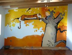 Calvin and Hobbes nursery... by how brown met blue, via Flickr