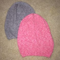 2 Aerie Slouchy Beanies Cute beanies! I guess I cut the tag out at some point because I don't even see a spot where it would have been. Never worn! Couldn't pull it off. PRICE FIRM aerie Accessories Hats
