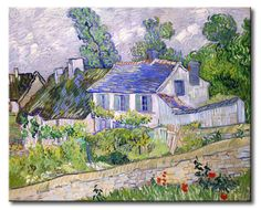 MU_VG2085 t_Van Gogh _ Houses at Auvers / Cuadro Arte Famoso, Casas en Auvers