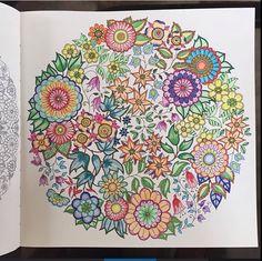 flowers mandala. #secretgarden #mystaedtlerpens #fabercastellcoloredpencils #colleencoloredpencils