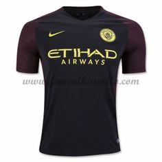 Jalkapallo Pelipaidat Manchester City 2016-17 Vieraspaita