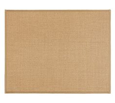 Color-Bound Natural Sisal Rug - Chino #potterybarn Like this rug for the dining table