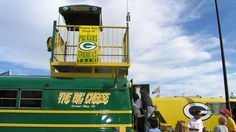 2013 inaugural winner of the annual Green and Golden Car Show as part of Green Bay Packers home opener weekend was a bus called The Big Cheese.