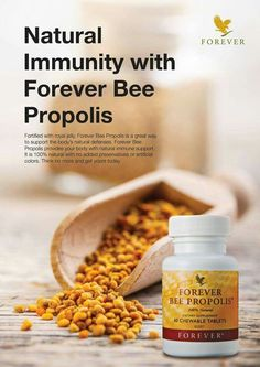 Propolis is the protective substance gathered and used by bees to disinfect and protect their hives. Forever Bee Propolis is gathered from pollution-free regions to assure purity. It is natural with no added preservatives or artificial colours. Honey Bee Pollen, Honey Bees, Clean9, Forever Living Business, Forever Living Aloe Vera, Bee Propolis, Tapas, Forever Life, Chocolate Slim