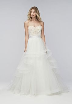 Wtoo Brides strapless ball gown with beaded and lace embellishments I Style: Bree Corset 16140B / Almira Skirt 16604 I https://www.theknot.com/fashion/bree-corset-16140b-almira-skirt-16604-wtoo-brides-wedding-dress?utm_source=pinterest.com&utm_medium=social&utm_content=aug2016&utm_campaign=beauty-fashion&utm_simplereach=?sr_share=pinterest