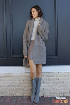 Cozy sweaters your closet needs! Style up your warm look by mixing an oversized sweater with a mini skirt or high boots.