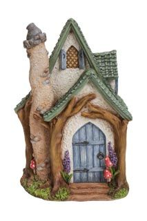 What a gorgeous woodland cottage!! The fairy who lives here is a keen gardener, judging by the lovely plants around the house. 20cm Tall Free delivery on orders over £40
