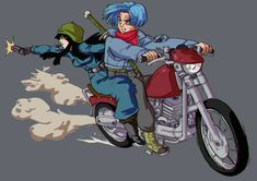 Trunks and Mai by bloodsplach.deviantart.com on @DeviantArt
