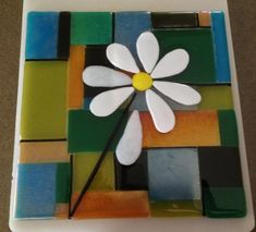 More Fused Glass Projects - Delphi Glass Artist Gallery Entry. Showcase your art glass projects. Fused Glass Plates, Fused Glass Art, Mosaic Art, Mosaic Glass, Solar Light Crafts, Solar Lights, Wine Bottle Candles, Wine Bottles, Delphi Glass