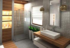 Łazienka styl Nowoczesny - zdjęcie od katadesign - Łazienka - Styl Nowoczesny… Loft Design, Alcove, Bathroom Lighting, Bathtub, Vanity, Interior Design, Mirror, Studio, Furniture