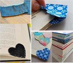 Cute idea for corner bookmarks    Clever.... easy....